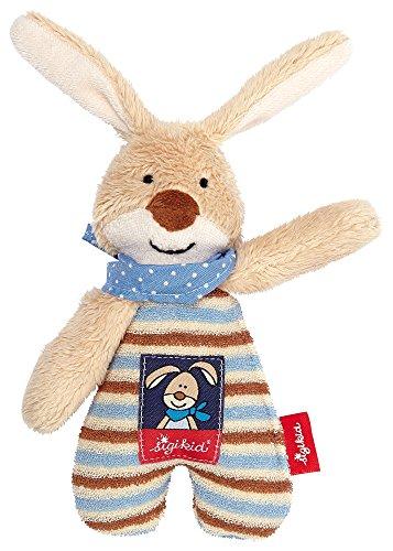 Sigikid, Mädchen und Jungen, Greifling und Rassel, Hase Semmel Bunny, Blau/Braun, 47891