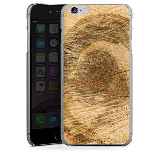Apple iPhone X Silikon Hülle Case Schutzhülle Baumstamm Holz Look Baum Hard Case anthrazit-klar