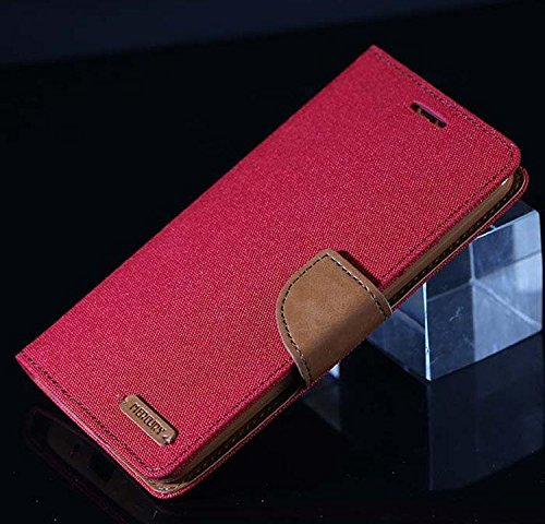 Imported & Original Luxury Canvas Mercury Wallet Case Mobile Flip Cover For Apple iPhone 4/4S (Pink)  available at amazon for Rs.259