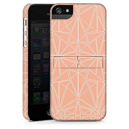 Apple iPhone X Silikon Hülle Case Schutzhülle Muster Pfirsich Ornament Premium Case StandUp