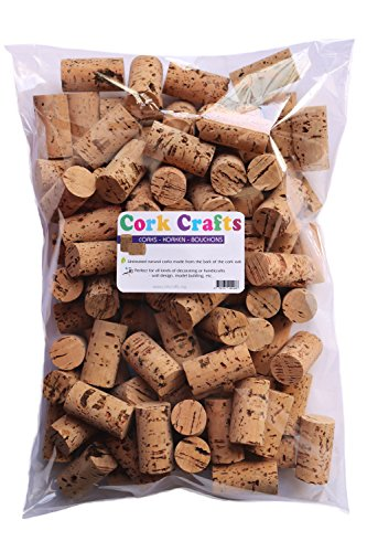 Korken / 100 Natur Weinkorken 24 mm x 45 mm/Flaschenkorken zum Basteln