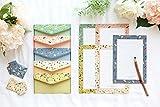 Funcoo - Graziosa carta da lettere, carta Kawaii, confezione da 48, con 24 buste, 1 foglio con etichette adesive Style-3(8.3x5.8inch)