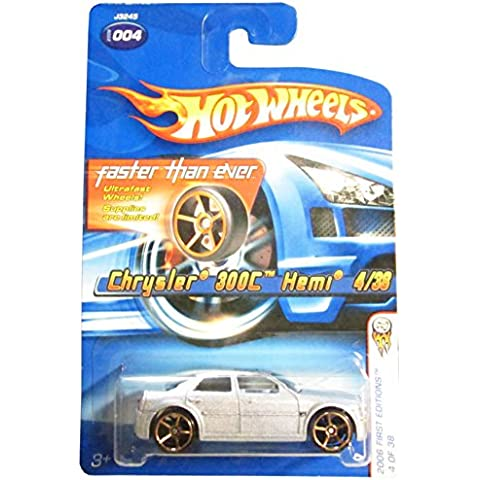 2006 First Editions #4 Chrysler 300C Hemi Silver With FTE Wheels #2006-4 Collectible Collector Car Mattel Hot Wheels by Hot Wheels