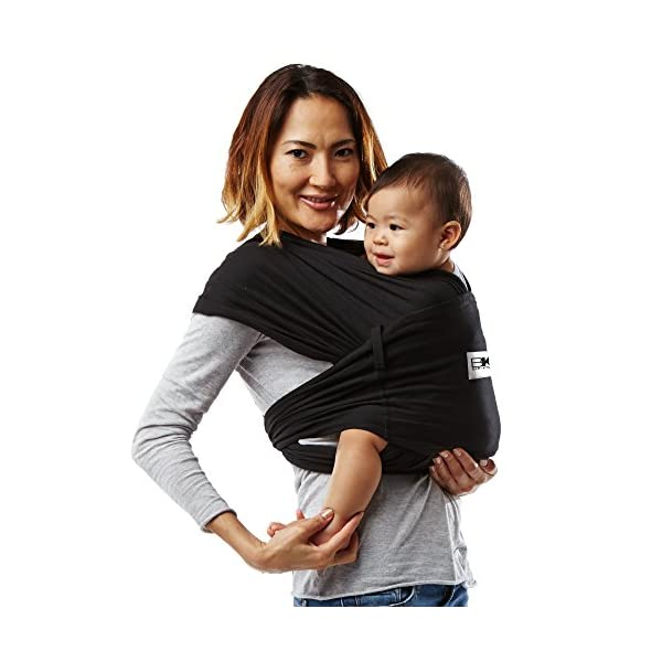 Baby K'Tan Baby Cotton Carrier (Large, Black) Baby Ktan Easy to use and put on: NO WRAPPING INVOLVED.  6 positions to conveniently carry baby & toddlers from 8 lbs to 35 lbs 100% soft natural cotton with unique one-way stretch Unique HYBRID double-loop design holds baby securely and evenly distributes weight across back and both shoulders. Washer & dryer safe 14