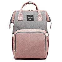 TnXan Waterproof Backpack Casual Travel Backpack Mummy Maternity Nappy Bag Large Capacity Diaper Bag Baby Care Multifunctional Large Nursing Bag