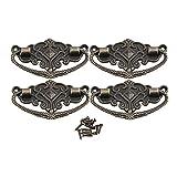 BQLZR Upholstery Bronze Dekorative Möbel Zug Handgriff Europa Möbelknopf Vintage Packung von 4