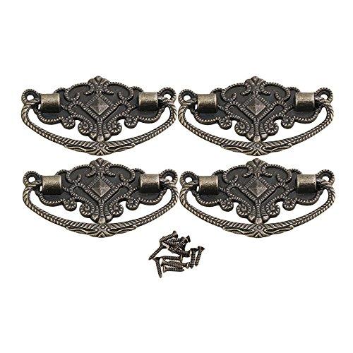Dekorative Möbelknöpfe (BQLZR Upholstery Bronze Dekorative Möbel Zug Handgriff Europa Möbelknopf Vintage Packung von 4)