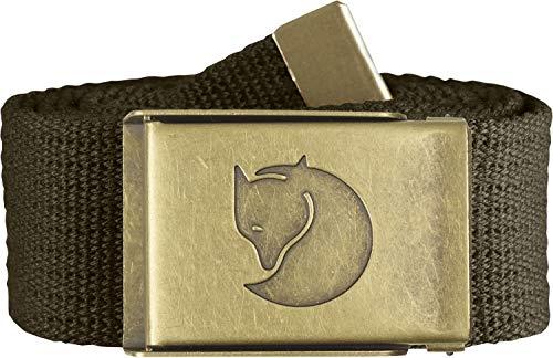 Fjällräven Herren Gürtel Canvas Brass Belt, Dark Olive, One Size