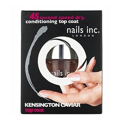 Nails inc 45 sec speed dry conditioning Kensington Caviar top coat