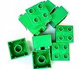LEGO DUPLO - 10 Steine mit 2x2 Noppen in grün