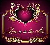 3 St. Aufkleber Original RAHMENLOS® Design: Selbstklebendes Flaschen-Etikett: Love is in the Air