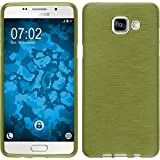 Coque en Silicone pour Samsung Galaxy A5 (2016) A510 - brushed vert pastel - Cover PhoneNatic Cubierta + films de protection