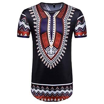Pingtr african print t shirt mens summer casual for T shirt printing thailand