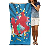 xcvgcxcvasda Sports Parkour Skateboard Quick Drying Pool Beach Towel Travel Bath Towels 31'x 51' Unique Pattern Design