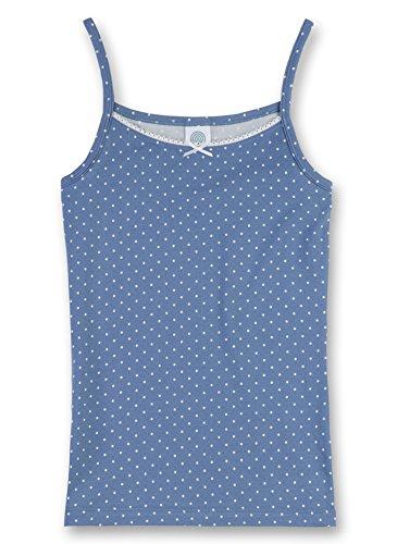Sanetta Mädchen Unterhemd, All Over Druck 343151, Gr. 152, Blau (5828)