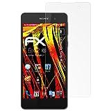 atFolix Folie für Sony Xperia E5 Displayschutzfolie - 3 x FX-Antireflex-HD hochauflösende entspiegelnde Schutzfolie