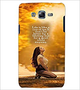 PrintDhaba Quote D-2596 Back Case Cover for SAMSUNG GALAXY J7 (Multi-Coloured)