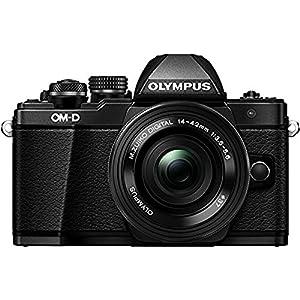Olympus-OM-D-E-M10-Mark-II-Systemkamera-16-Megapixel-5-Achsen-VCM-Bildstabilisator-elektronischer-Sucher-mit-236-Mio-OLED-Full-HD-WLAN-Metallgehuse-Kit-inkl-14-42mm-Objektiv-elektr-Zoom-schwarz