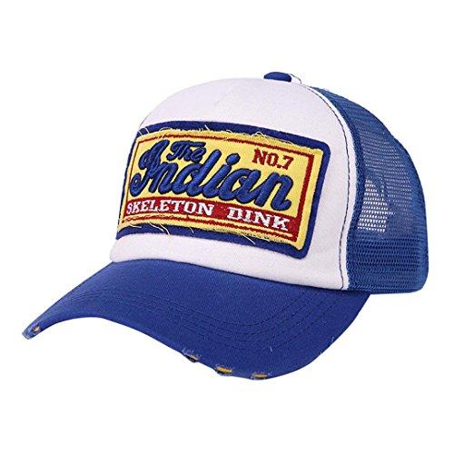 Zarupeng-Joyas Hüte Baseball, zarupeng Herren Cap Damen Einheitsgröße Sockel gesticktes Sommer-Mesh-Hüte für zufällige Hut Hip Hop Baseball Mützen, Blau#1 (New Golf Yankees York)
