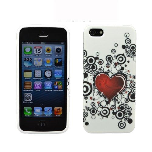Pochettes simples Apple iPhone 5s Herz schwarz