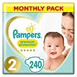 Pampers - Pañales - Talla 2 (3 - 6 kg) - 240 pañales