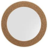Nagina International Hand Crafted Nautical Premium Wall Decor Rope Accentuated Mirror | Maritime Sailor's Decor Gifts & Collectibles (20 inches)