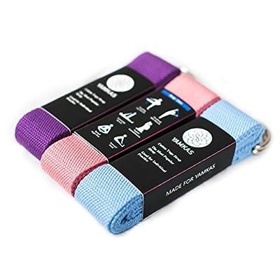 Yoga-Gurt aus 100-prozentiger Baumwolle in verschiedenen Farben mit Metallschnalle Einheitsgröße Pilates-Fitness-Stretch-Gürtel Trainingsgerät für Zuhause Übungshilfe Trainingshilf