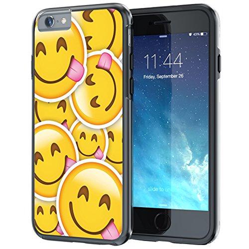 """iPhone 6 6s Plus 5.5"""" Case, True Color® Emoji Kuss Glänzend Herz 3D gedruckd Hybrid Hartschale + Soft TPU Bumper beständige Schutzhülle [Sammlung überall] köstlich Gesicht Multi"""