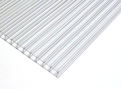 Daruma Stegplatte 4mm klar für Gewächshaus | Treibhaus 730 x 1220 mm -> Wunschmaße auf Anfrage