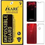 Sajni Creations Ikare Impossible Oppo F7 Front And Back Tempered Screen Guard , Strong Plastic Fibre Unbreakable Flexible Impossible Tempered Screen Guard Protector For Oppo F7 - Transparent (does Not Cover The Edges)