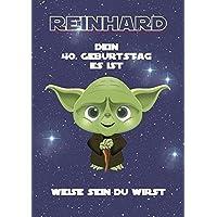 Geburtstagsgeschenk für Mann oder Frau - Motiv: Yoda (Star Wars) | Personalisiertes Geschenk zum Geburtstag für Männer für jedes Lebensjahr (Bspw. Jahrgang 1968, 50 Jahre)