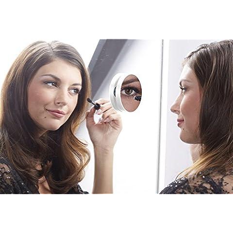 Specchio Pop a ventosa–Ingrandimento X (Colonne Lisce)