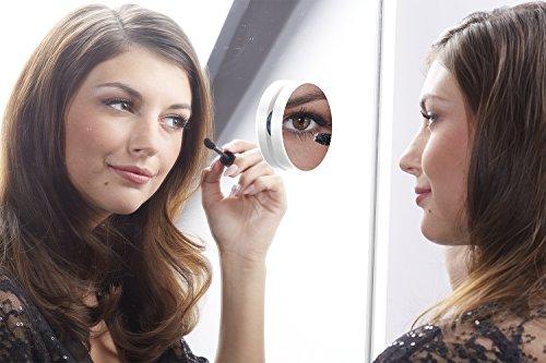 Specchio Pop a ventosa-Ingrandimento X (Colonne Lisce)