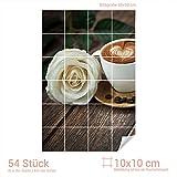 Graz Design 761588_10x10_60 Fliesenaufkleber Cappuccino/Rose | Küchen-Fliesen mit Folie überkleben (Fliesenmaß: 10x10cm (BxH)//Bild: 60x90cm (BxH))