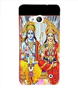 Print Masti Designer Back Case Cover for Microsoft Lumia 550 (Alternative Antique Square Colourful)