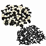KING DO WAY Pack of 50 Greenhouse Plant Garden Misting Atomizing Sprinkler Nozzle Heads and Tee Connector Black + Grey