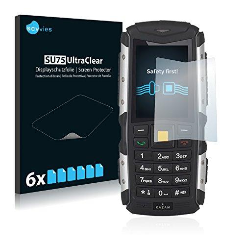 Savvies Schutzfolie kompatibel mit Kazam Life R5 (6 Stück) - ultraklare Bildschirmschutz-Folie