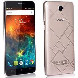 CUBOT Max 4G Smartphone Display 6 Pollici, Batteria 4100mAh, 3GB RAM + 32GB ROM, Octa-Core, Fotocamera 13MP, Android6.0, Dual SIM, IPS 2.5D Schermo Curvo Oro [CUBOT OFFICIALE]