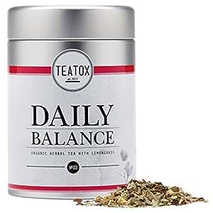 TEATOX Daily Balance, Bio Kräutertee mit Zitronengras, Dose