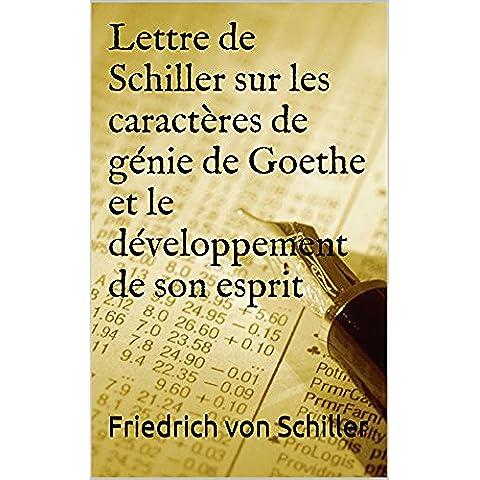 Lettre de Schiller sur les caractères de