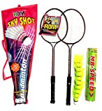 #8: RDM junior badminton combo-set for kids, set of 2 racket and 1 box nylon shuttle cock (pack of 10)with full length cover,- BEST QUALITY FOR KIDS