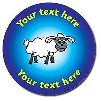 70 Personalised Ewe Sheep Animals Childrens Pupils Motivational School Praise Teachers Reward Stickers 25mm Primary Teaching Services