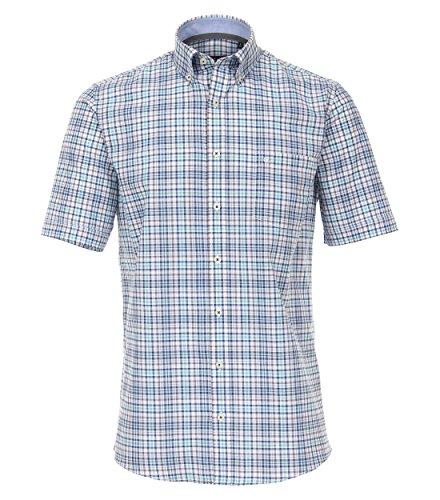Michaelax-Fashion-Trade CASA Moda - Comfort Fit - Herren Freizeit 1/2-Arm-Hemd mit Button Down Kragen Kariert (982962000), Farbe:Anthrazit (750), Größe:XXL (Button-down-kragen Hemd)