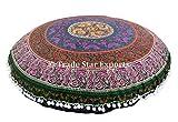"""Mandala 32 fundas de almohada """", grandes cojines suelo redondo, India Puf, Roundie otomana, Tiro decorativo, Pompón del amortiguador de la cubierta al aire libre, Boho Almohada Shams"""