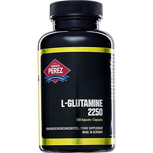 L-Glutamin Matrix Formel - 2250 mg pro Dosis - 100 Kapseln - Hochdosiertes L-Glutamin (Bücher über Vitamine & Nahrungsergänzungsmittel)