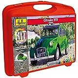 Heller - 60175 - Maquette De Voiture - Citroën 2cv & Route - Petite Mallette - 102