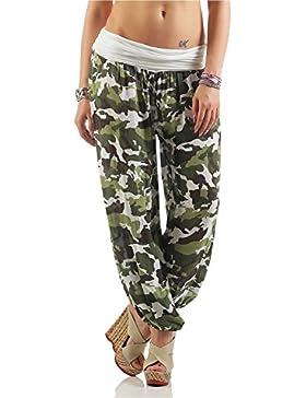 ZARMEXX Pantalones de verano estilo Harem de las mujeres de ZARMEXX por todas partes impresión Talla única (36...
