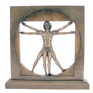Ars-Bavaria Leonardo da Vinci: Anatomie, Mann, Vitruv, Bronzelook