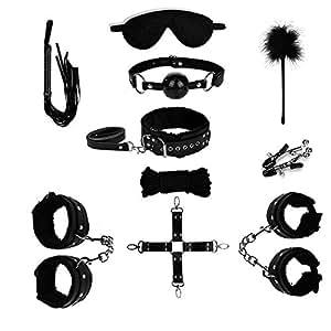 meinz Sex Toys maggiorenne schiavo S & M di corda catene per le donne 10pezzi Utensile (Nero), Adult Sm Tools Slave Bondage Kit Set For Ladies (Black)
