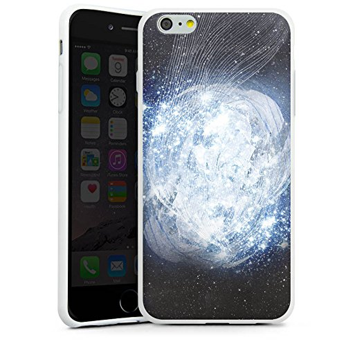 Apple iPhone X Silikon Hülle Case Schutzhülle Universum Galaxie Dimension Silikon Case weiß